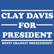 Image of Clay Davis for President.