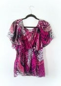 Image of Worthington Woman Butterfly Sleeve Top (Size 1x)