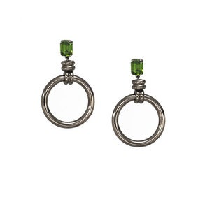 Image of Hana Earrings-Hunter Green