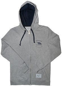 Image of SEN NO SEN x KANARDO fish on fish zip hoodie