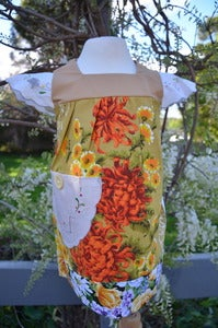 Image of Floral Burst 70s vintage BABY 0 to 3 years