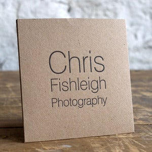 Image of 50 Letterpress SINGLE CD/DVD cases in Kraft or White