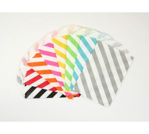 Image of Mini Diagonal Stripe Paper Bags