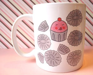 Image of MUGS: Cupcake Cannibalism mug
