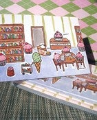 Image of 10-PACK STATIONERY CARDS: Cupcake Librarian Notecards
