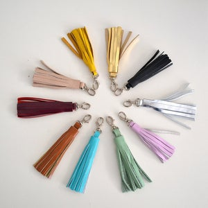 Image of Tassel leather Keychain