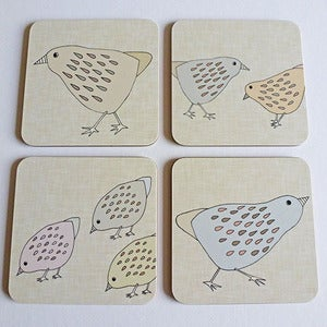 Image of Little chicks coasters set of 4