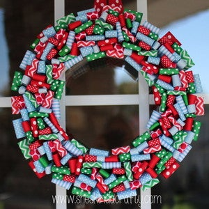 Image of 2012 Cheery Holiday Wreath 1 READY TO SHIP