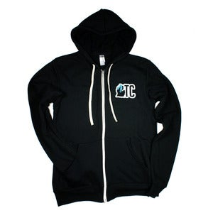 Image of TC MI Zip Hoodie Black