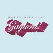 Image of Happy Birthday Gaylord!