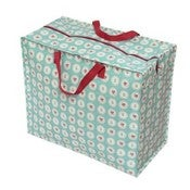 Image of Jumbo storage bag - blue doily