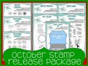 Image of October 2012 Stamp Release Package ~ Peachy