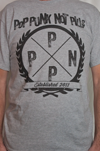 Image of PPNP EMBLEM T-SHIRT (Black on Gray)