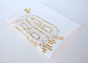 Image of Philadelphia Soft Pretzel - floursack tea towel