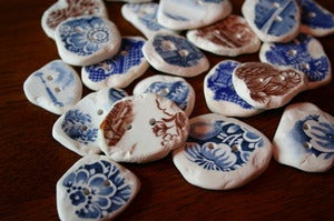 Image of Reclaimed Ceramic Plate Buttons