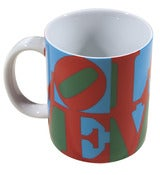 Image of multi-colored love mug