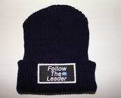Image of Follow The Leader Patch Beanie (Navy)