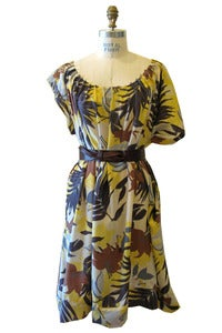 Image of Adele Dress in Silk Hawaiian