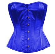Image of Blue Satin Overbust