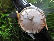 Image of VINTAGE OMEGA CONSTELLATION PIEPAN DIAL SS case...14K bezel- SOLD!
