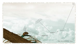 Image of Medeski, Martin &amp; Wood Fall 2012 Acoustic Tour Poster