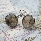 Image of Beach Sand Earrings from the coast of Maine in Silver