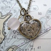 Image of Beach Sand Heart Pendant