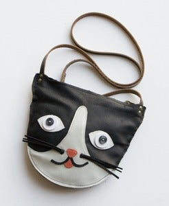 Image of leather cat purse