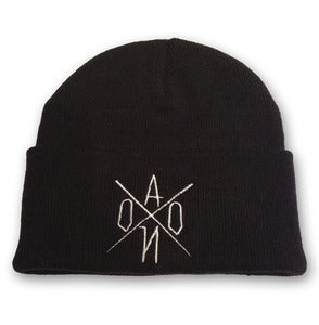 Image of Black Embroidered AONO Logo Beanie