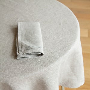 Image of Tablecloth: Natural With Stamp