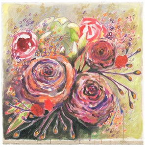 "Image of flowers for alison 30""x31"""