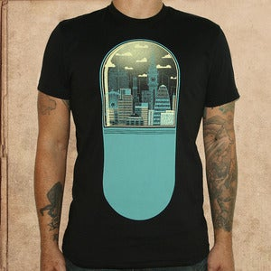 Image of Brave New World - black - discharge inks - unisex - only XS/S left