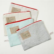Image of Natural Linen purses