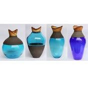 Image of Pia Wustenberg: Blue Stacking Vessels