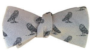 Image of Owl Wool Bow Tie