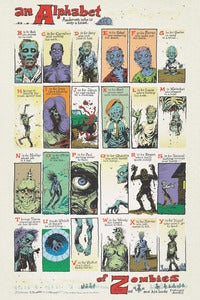 Image of S.R. BISSETTE'S A-Z Zombie Print