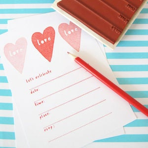 Image of Party Invitation Stamp Set 
