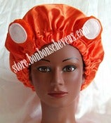 Image of Orange Gummy Bear BonBons Bonnet Adult &amp; Child Sizes