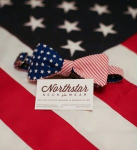 Image of American Flag Bow Tie