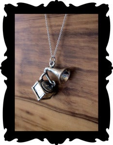 Image of Acid Cult Sterling Silver Gramophone Necklace