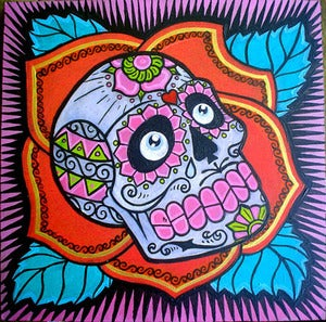 Image of SUGAR SKULL original painting