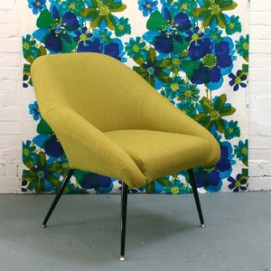 Image of Vintage Occasional Chair in Mossy Green
