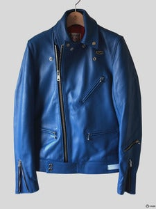 Image of Lewis Leathers - Customized Blue Cyclone Jacket