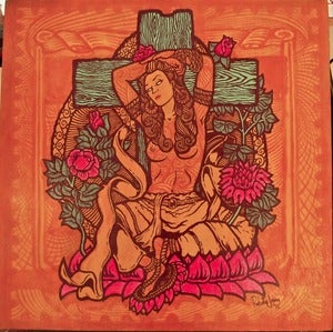 Image of YELLOW TARA original painting