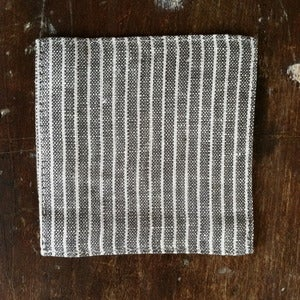 Image of Coasters: Grey Thin White Stripe
