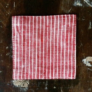Image of Coasters: Red Thin White Stripe