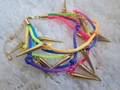 Image of Spike Raibow Bracelet