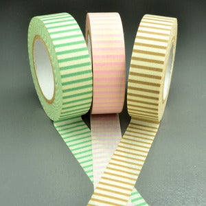 Image of Pastel Horizontal Stripe Washi Tape