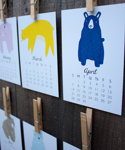 Image of 2013 Illustrated Little Bears Calendar by Gingiber