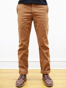 Image of Cone White Oak Brown Selvedge Canvas Tailored Chinos